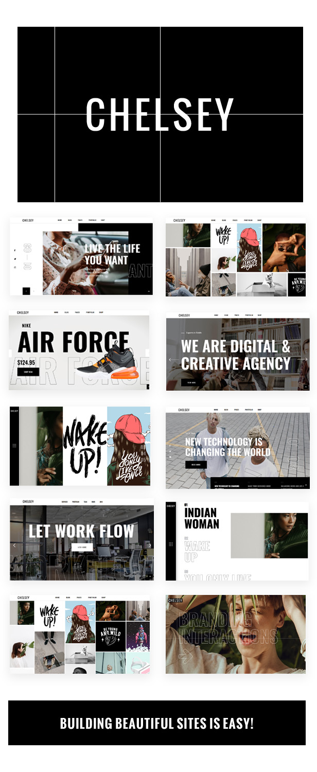 Chelsey - A Creative Multipurpose Theme for Freelancers and Agencies - 1